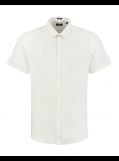 Dstrezzed Overhemd Korte Mouw Linnen Wit (311224 - 100)