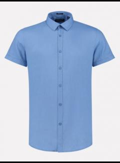 Dstrezzed Overhemd Korte Mouw Linnen Sky Blauw (311224 - 628)