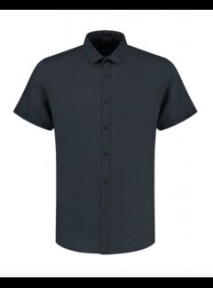 Dstrezzed Overhemd Korte Mouw Linnen Navy Blauw (311224 - 649)