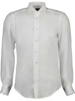 Cavallaro Napoli Overhemd Leo Linnen White (110211057 - 100000)