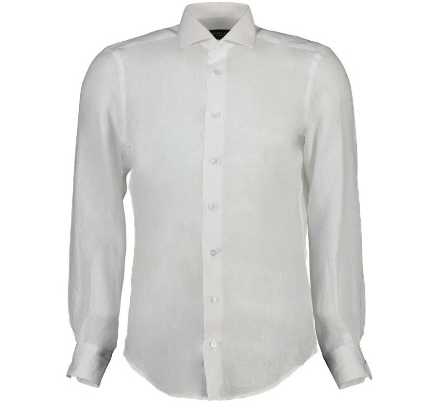 Overhemd Leo Linnen White (110211057 - 100000)