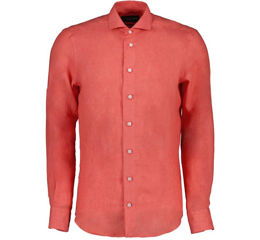 Overhemd Leo Linnen Coral (110211057 - 455000)