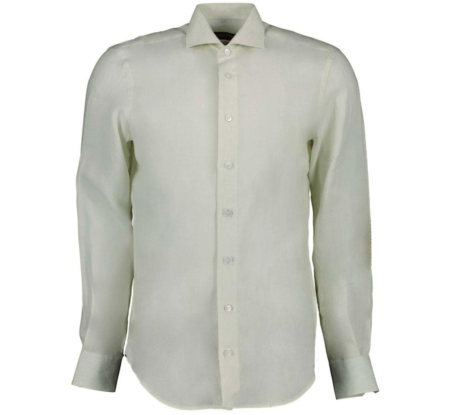Overhemd Leo Linnen Light Green (110211057 - 500000)