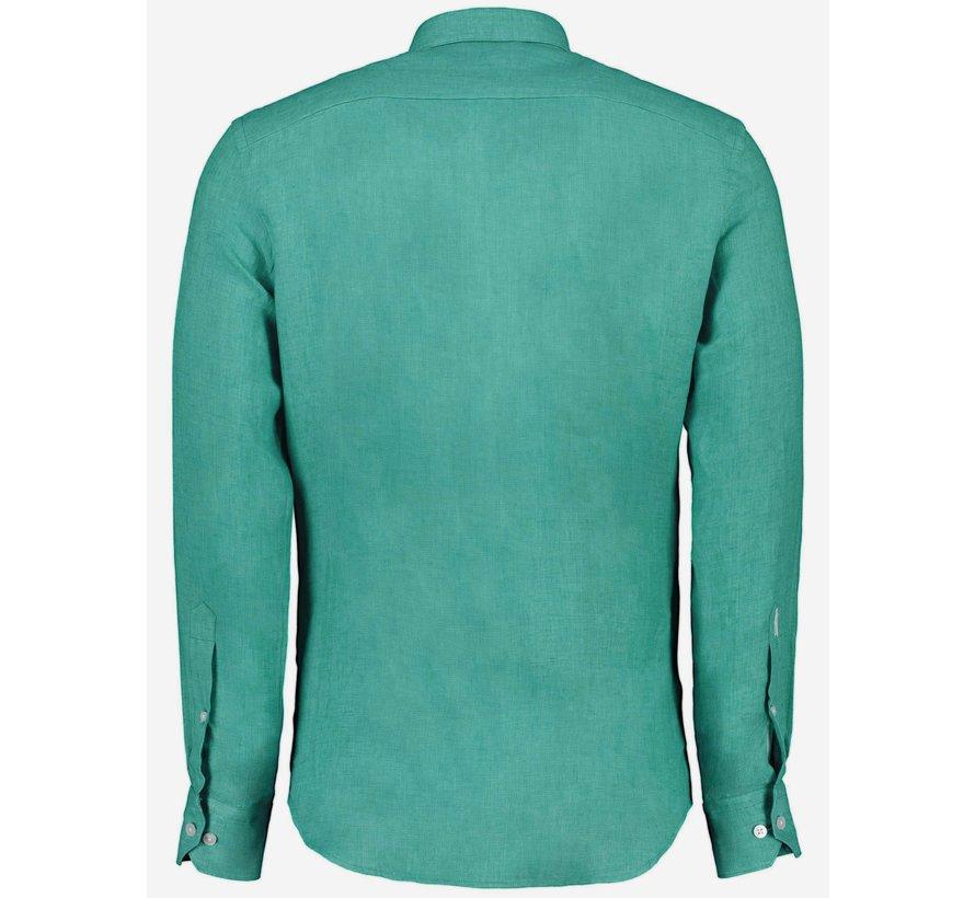Overhemd Leo Linnen Teal Green (110211057 - 540000)