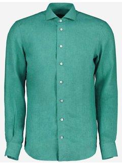Cavallaro Napoli Overhemd Leo Linnen Teal Green (110211057 - 540000)