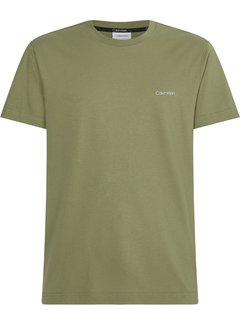 Calvin Klein T-shirt Ronde Hals Delta Groen (K10K103307 - MSS)