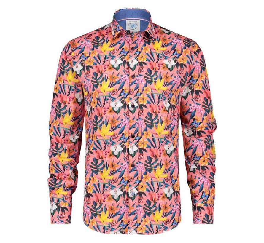 Overhemd Floral Pink (22.02.026)N