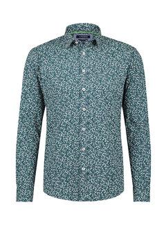 Haze&Finn Overhemd Print Groen (MC15-0100-31 - GreenCamoFlower)