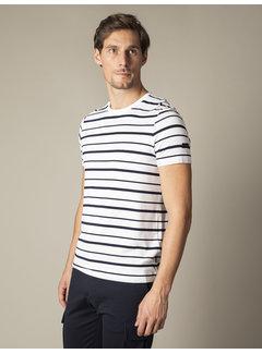 Cavallaro Napoli T-shirt Marino Streep Wit (117211002-100000)