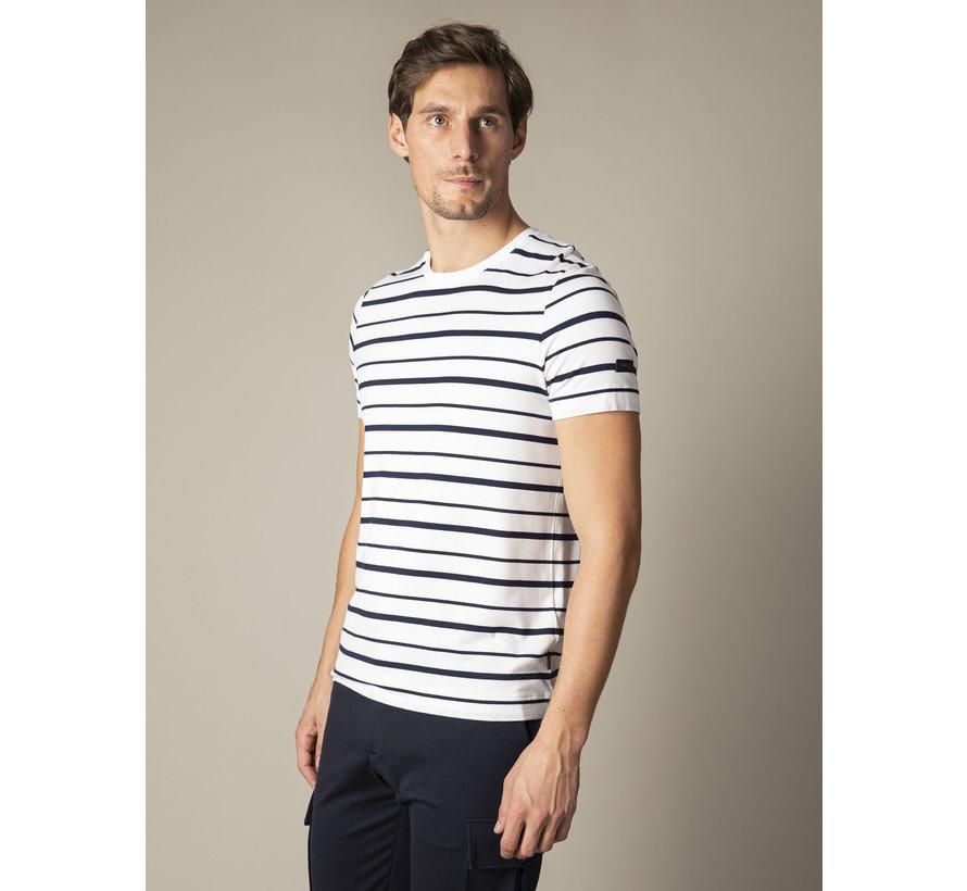 T-shirt Marino Streep Wit (117211002-100000)