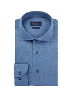 Profuomo Overhemd Single Jersey Knitted Blauw (PP0H0A056)N