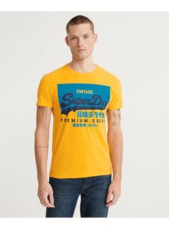 Superdry T-shirt Vintage Logo Geel (M1010194A - RUA)