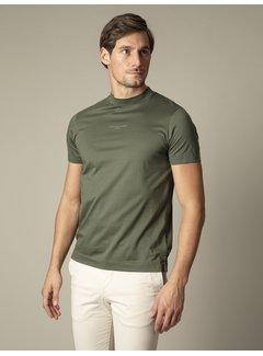 Cavallaro Napoli T-shirt Ronde Hals Chiavari Donker Groen (117211001-599000)