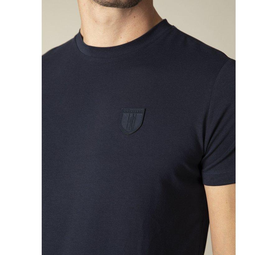 T-shirt Ronde Hals Napoli Donker Blauw (117211010-699000)