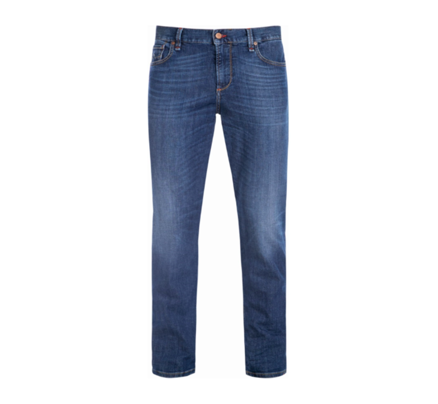 Jeans Slipe Tapered Fit Blauw (6837 1370 - 890)N