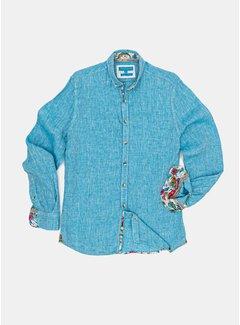 Colours & Sons Overhemd Liam Linnen Ocean (9121-210 - 216)