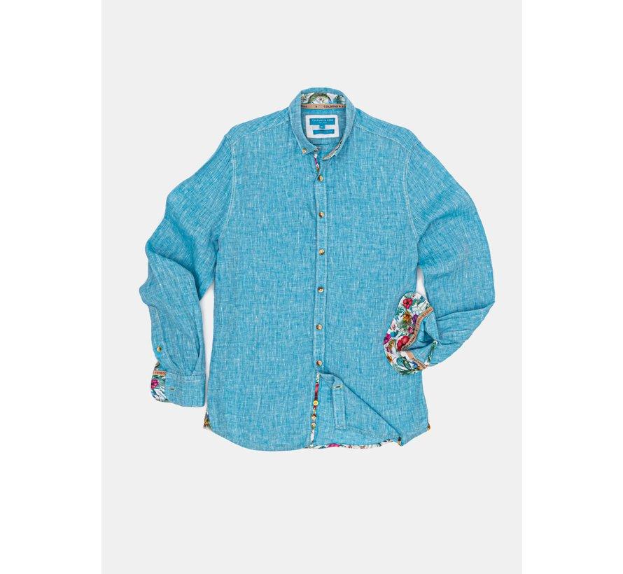 Overhemd Liam Linnen Ocean (9121-210 - 216)