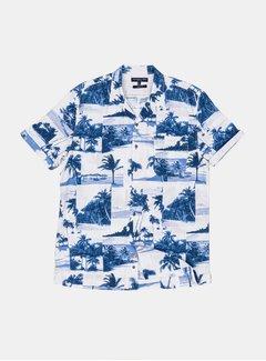 Colours & Sons Overhemd Yuri Blue Palms (9121-340 - 341)