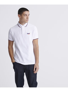 Superdry Polo Korte Mouw Wit (M1110013A - 01C)