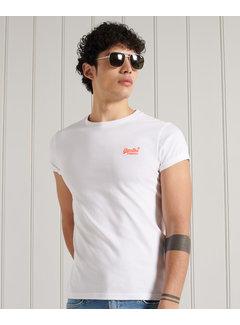 Superdry T-shirt Ronde Hals Optic Wit (M1011251A - 01C)