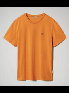 Napapijri T-shirt Ronde Hals Salis Marmalade Oranje (NP0A4EW8 - A581)