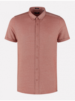 Dstrezzed Overhemd Korte Mouw Stone Rood (311226 - 410)