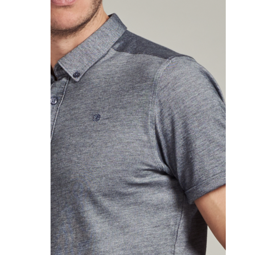 Overhemd Korte Mouw Navy Blauw (311226 - 649)