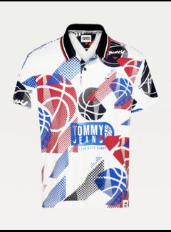 Tommy Hilfiger Polo Basketball Wit (DM0DM10585 - YBR)