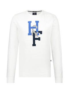 Haze&Finn Pullover Ronde Hals Wit (MC15-0405 - BlancdeBlanc)