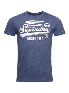 Superdry T-shirt Ronde Hals Gemêleerd Blauw (M1010850A - 5EP)
