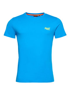 Superdry T-shirt Ronde Hals Electric Blauw (M1011251A - 89G)