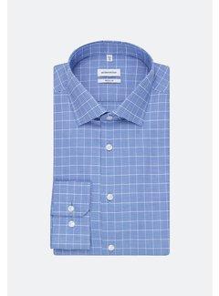 Seidensticker Seidensticker Overhemd Regular Fit Ruit Blauw (01.194320 - 39)