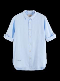 Scotch & Soda Overhemd Linnen Regular Fit Blauw (160775 - 0765)