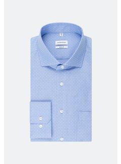 Seidensticker Overhemd Regular Fit Print Blauw (01.193837 - 13)