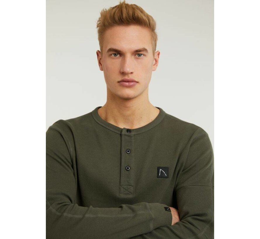 T-shirt Lange Mouw GRANDO Olijf Groen (5118.213.001 - E54)