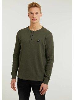 CHASIN' T-shirt Lange Mouw GRANDO Olijf Groen (5118.213.001 - E54)