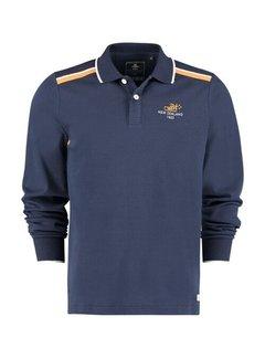 New Zealand Auckland Polo Renwick Lange Mouw Navy Blauw (21BN202 - 281)