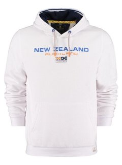 New Zealand Auckland Hooded Sweater Peka Peka Wit (21BN306 - 10)