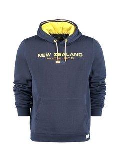 New Zealand Auckland Hooded Sweater Peka Peka Navy Blauw (21BN306 - 281)