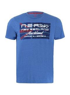 New Zealand Auckland T-shirt Ronde Hals Westport Cosmic Blauw (21BN717 - 295)