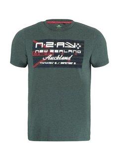 New Zealand Auckland T-shirt Ronde Hals Westport Moss Groen (21BN717 - 498)