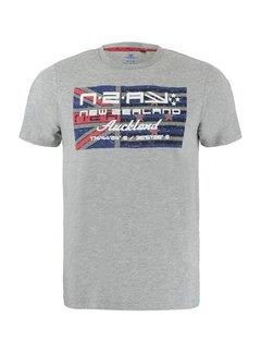 New Zealand Auckland T-shirt Ronde Hals Westport Grijs Melange (21BN717 - 70)