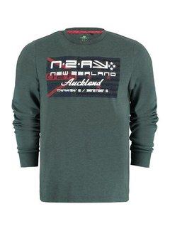 New Zealand Auckland T-shirt Lange Mouwen Westport Bay Moss Groen (21BN722 - 498)