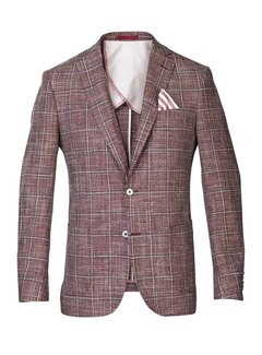Colbert Tailored Fit Rood Ruit (115014 - 58)