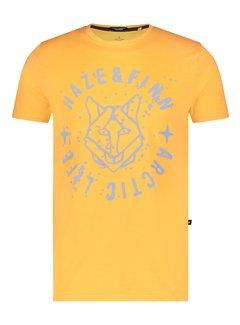 Haze&Finn T-shirt Husky Water Logo Geel (MC15-0005 - MuskMelon)