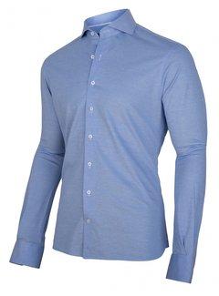 Cavallaro Napoli Overhemd Jersey Lange Mouw Franti Licht Blauw (110211006-610100)