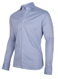 Cavallaro Napoli Overhemd Jersey Lange Mouw Prime Blauw (110211004-650100)
