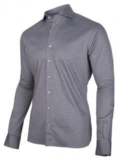 Cavallaro Napoli Overhemd Jersey Lange Mouw Tito Donker Blauw (110211003-690100)