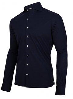 Cavallaro Napoli Overhemd Jersey Lange Mouw Savio Donker Blauw (110211001-699100)