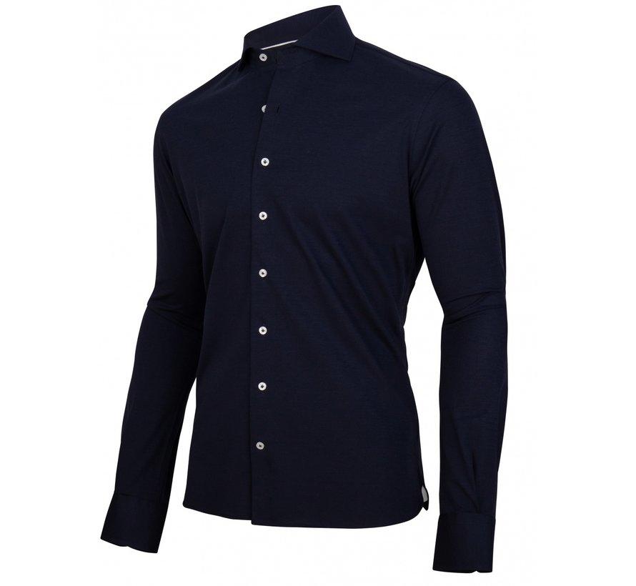 Overhemd Jersey Lange Mouw Savio Donker Blauw (110211001-699100)